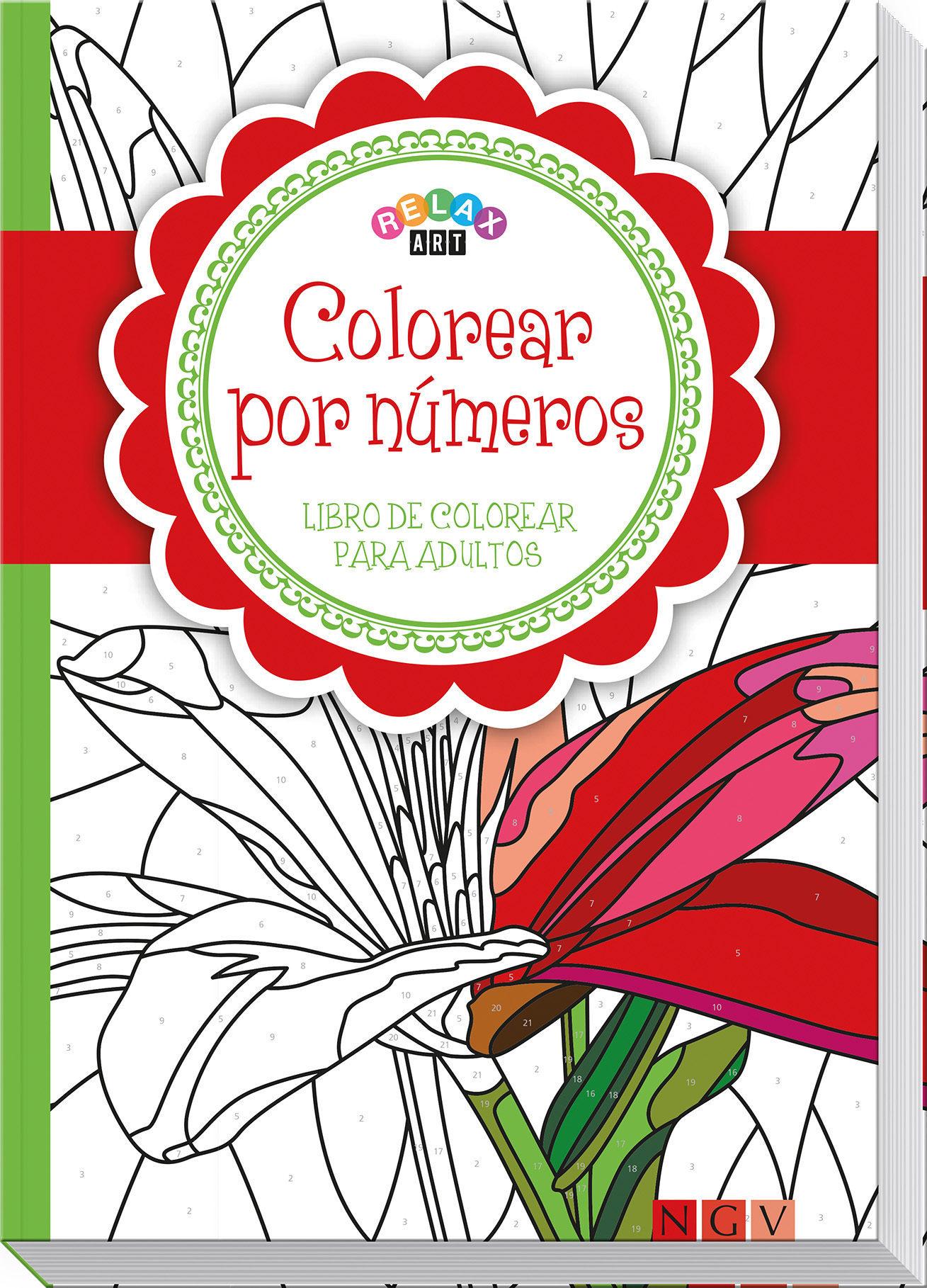 Lujoso Color Por Número Colorear Libros Para Adultos Viñeta ...