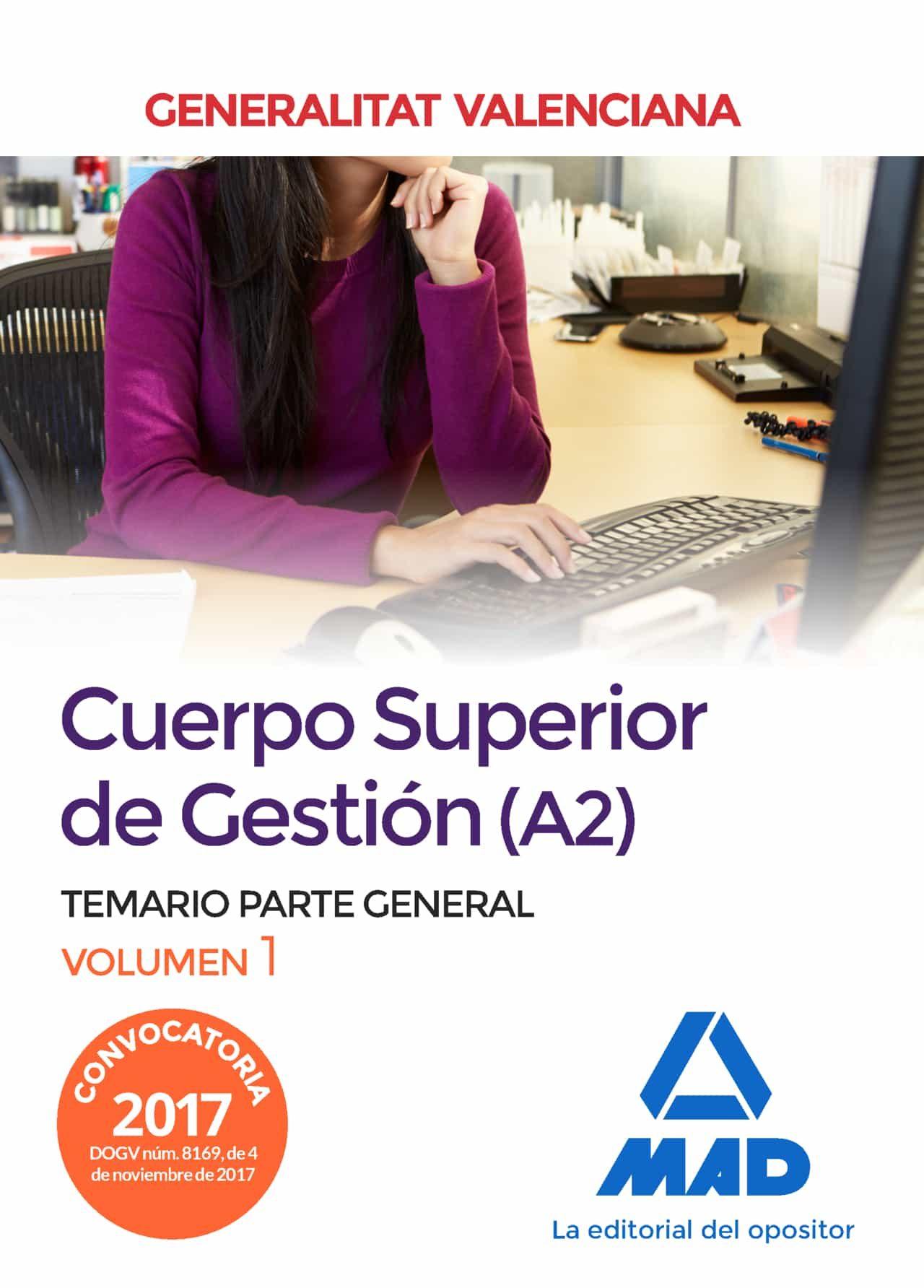 cuerpo superior gestion vol. 1  generalitat valencia-9788414213100
