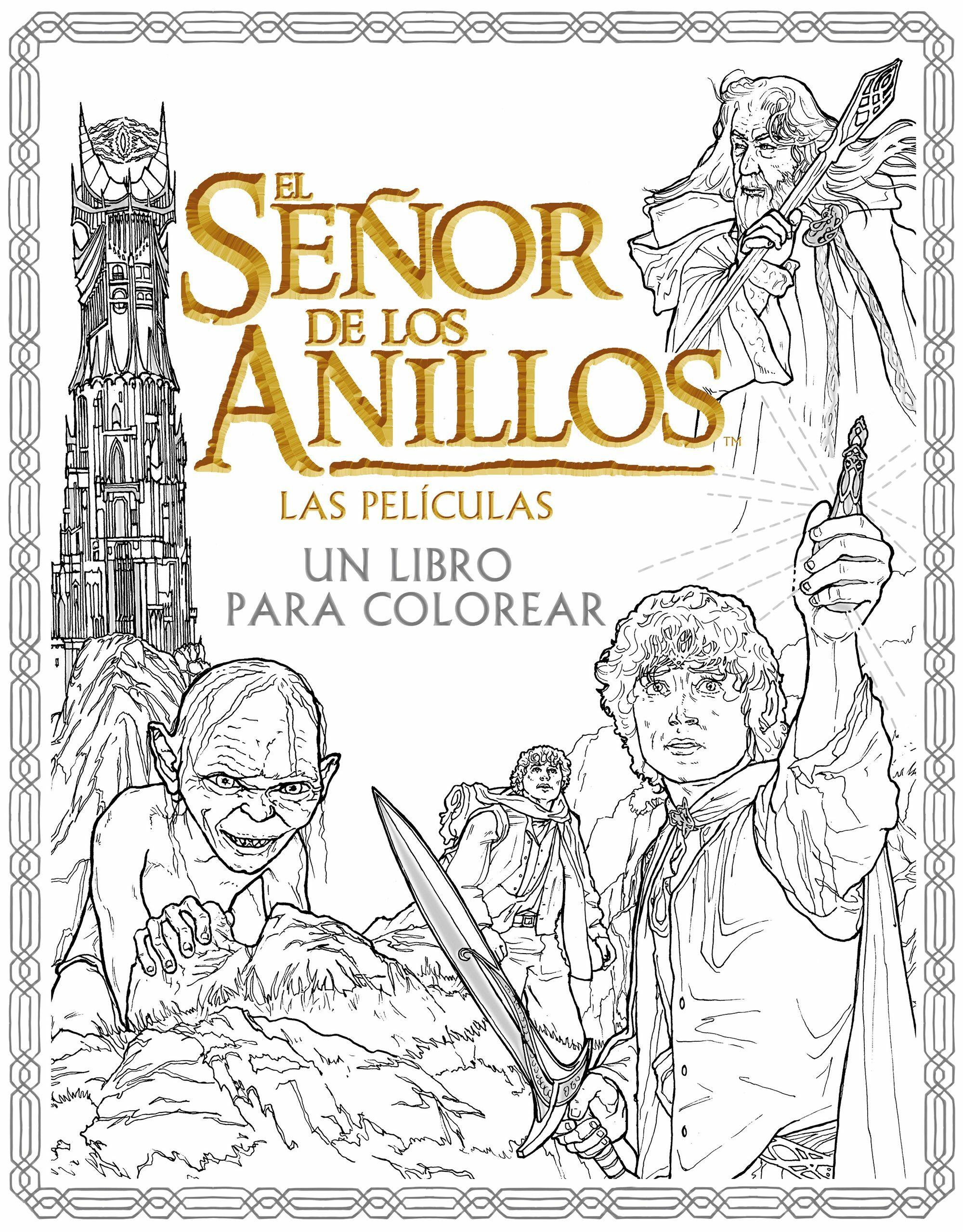 EL SEÑOR DE LOS ANILLOS: LAS PELICULAS. UN LIBRO PARA COLOREAR   VV ...