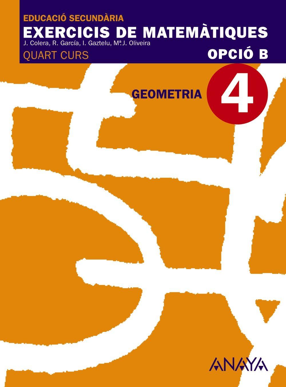 4. Geometria Educación Secundaria Obligatoria Segundo Ciclo 4º por Vv.aa. epub