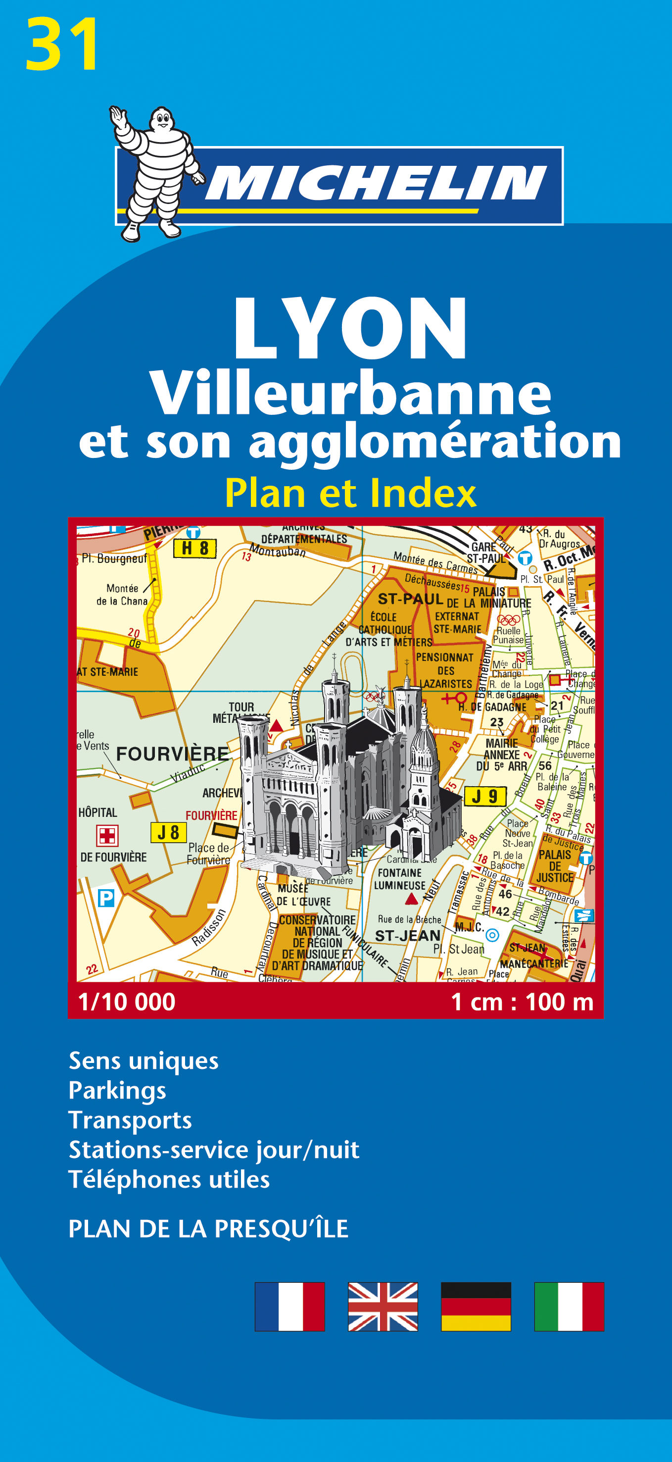 Plano Michelin 31 Lyon Con Callejero por Vv.aa.