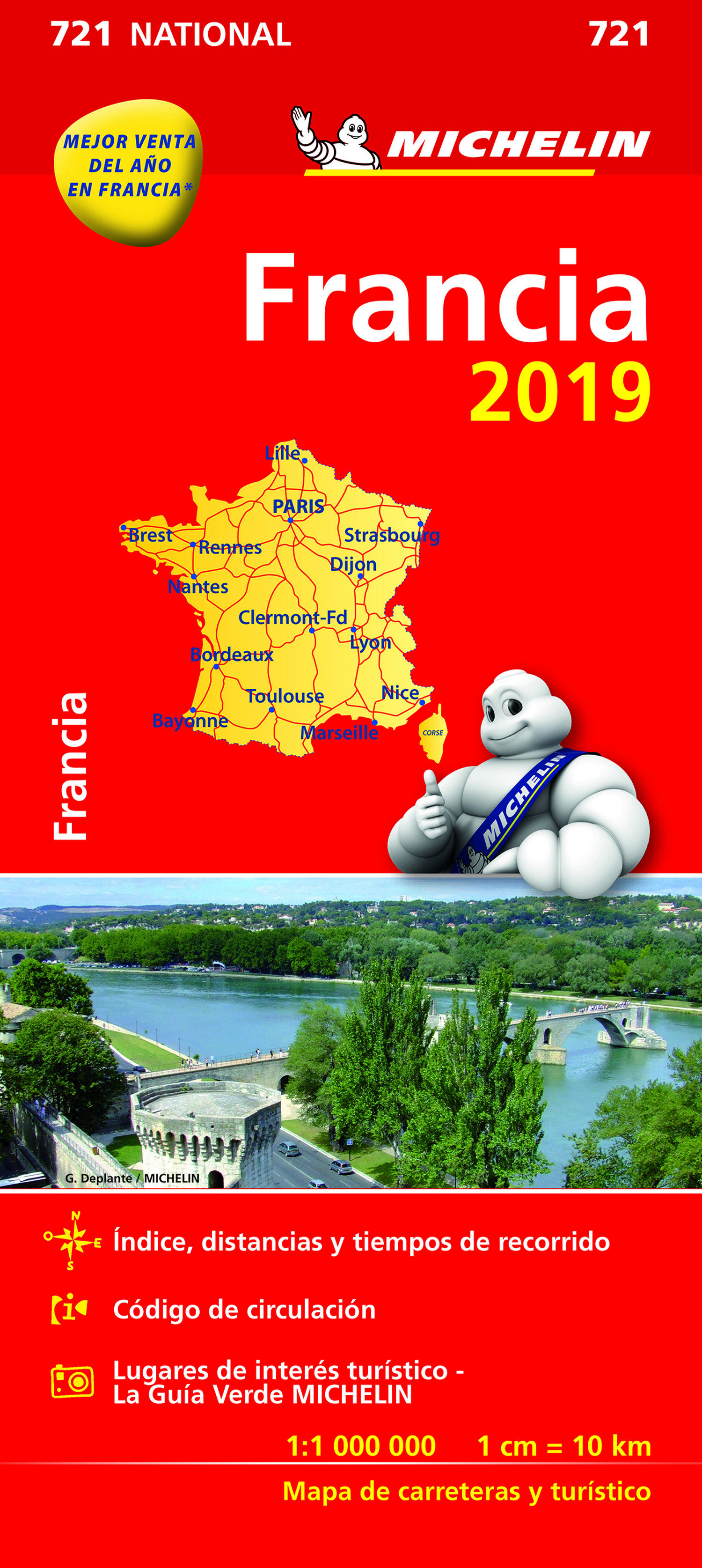 Francia 2019 (mapa National Michelin) por Vv.aa.