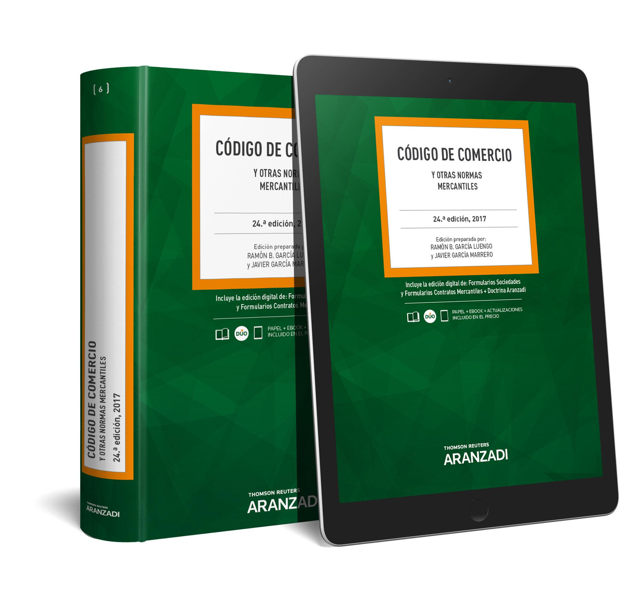 codigo de comercio y otras normas mercantiles (24ª ed.)-9788491524830