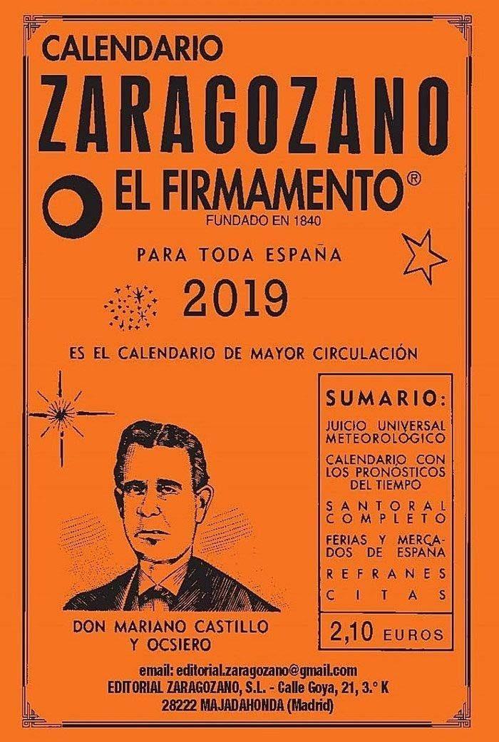 Calendario Zaragozano 2019 por Vv.aa.