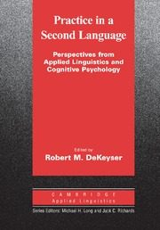 Practice In A Second Language (paperback) por Robert Dekeyser epub