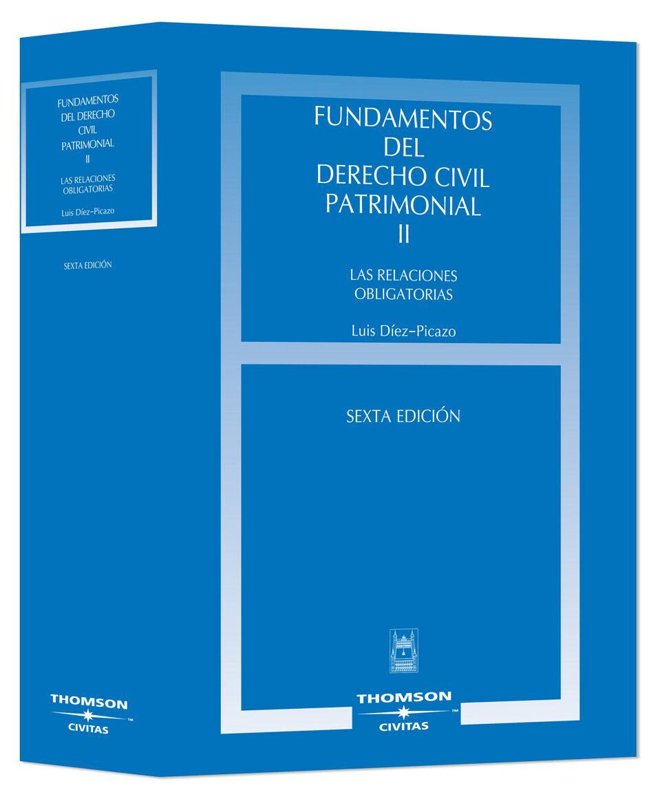 fundamentos derecho civil patrimonial relacion (t. 2)-luis diez-picazo-ponce de leon-9788447029440