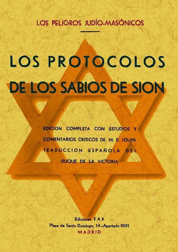 Los Protocolos De Los Sabios De Sion (los Peligros Judio-masonico S) (ed. Facsimil) por Vv.aa.