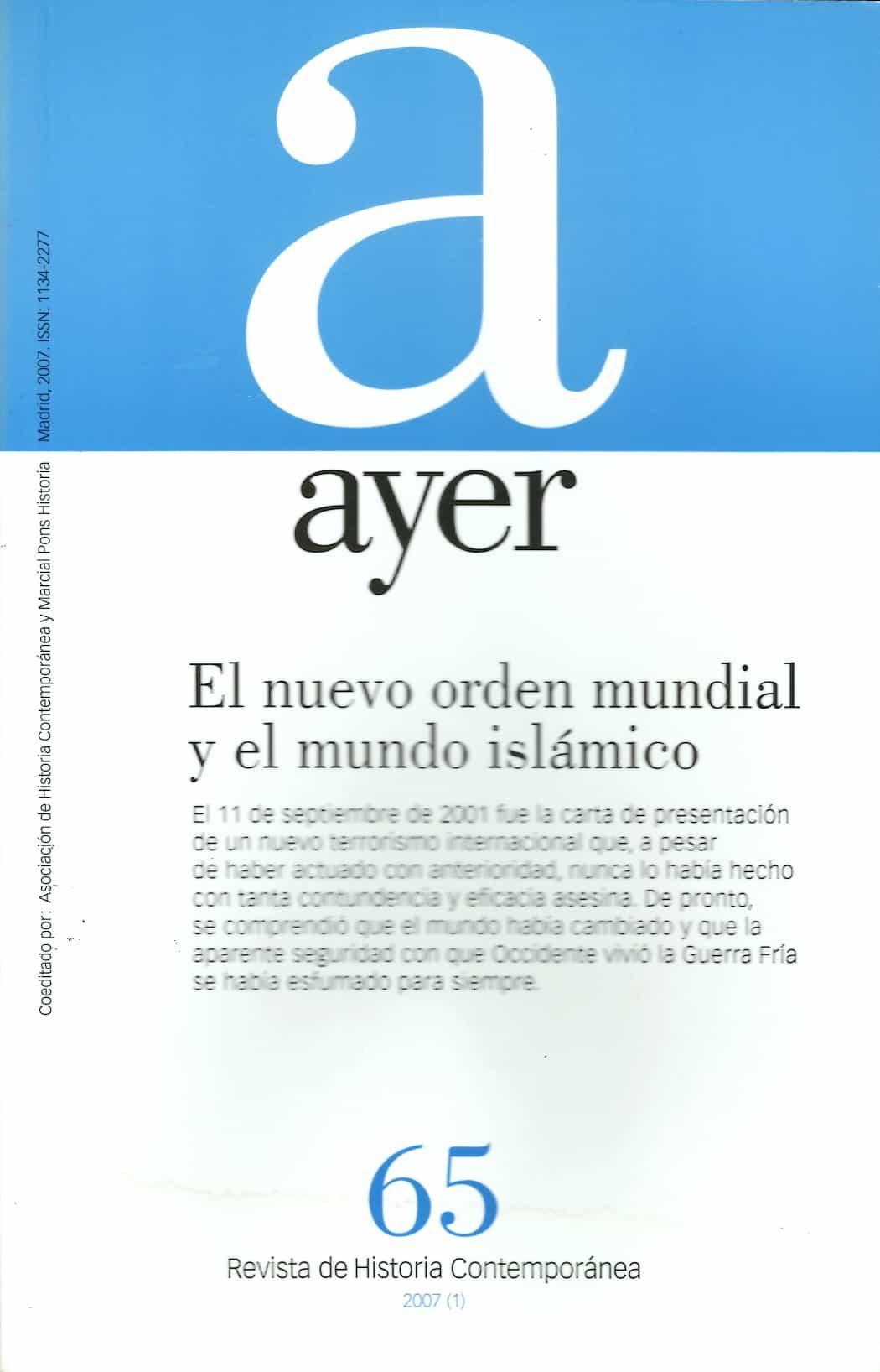 Ayer Nº 60: El Nuevo Orden Mundial Y El Mundo Islamico por Vv.aa. epub