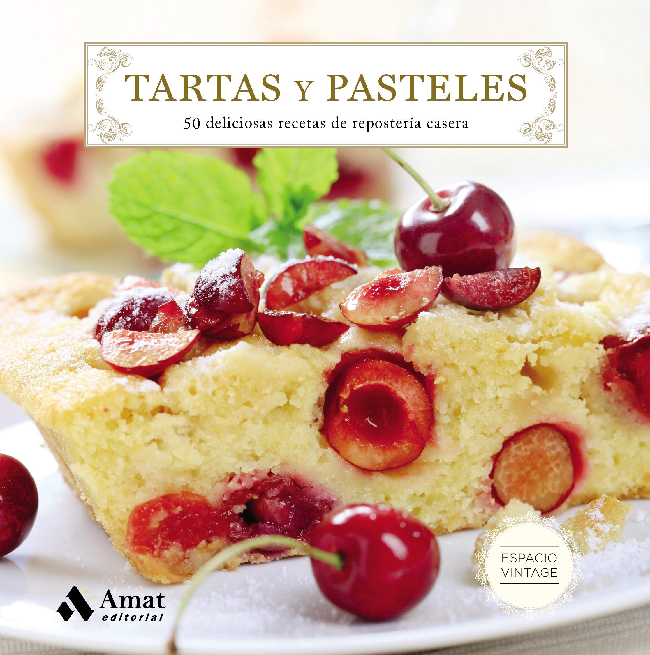tartas y pasteles 50 deliciosas recetas de reposteria casera vv