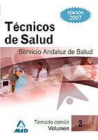 Tecnicos De Salud Del Servicio Andaluz De Salud. Sas. Temario por Vv.aa. Gratis