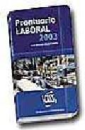 Prontuario Laboral 2003 por Jose Manuel Moya Castilla