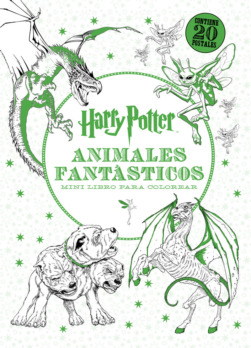 HARRY POTTER ANIMALES FANTASTICOS MINI LIBRO PARA COLOREAR | VV.AA