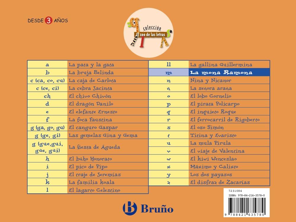 el zoo de las letras: la mona ramona-9788421635780