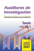 Auxiliares De Investigacion De Los Organismos Publicos De Investi Gacion. Temario. Volumen I por Vv.aa.