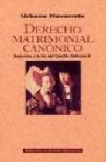 Derecho Matrimonial Canonico por Urbano Navarrete