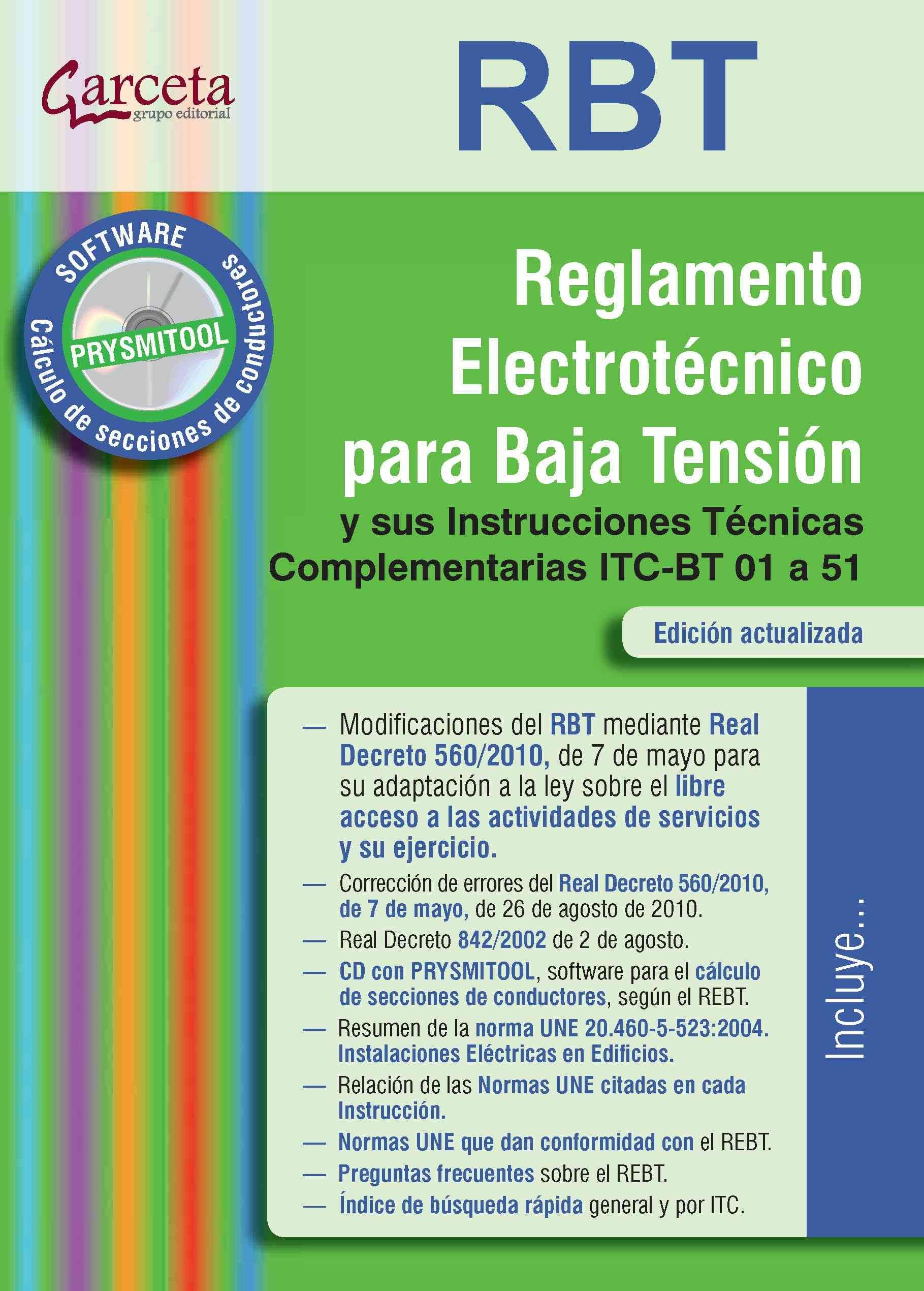 REGLAMENTO ELECTROTECNICO PARA BAJA TENSION: Y SUS INSTRUCCIONES ...