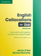 english collocations in use: advanced michael mccarthy felicity o'dell 9780521707800
