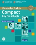compact key for schools workbook without answers audio cd 9781107618800