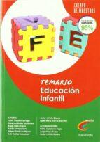 CUERPO DE MAESTROS TEMARIO EDUCACION INFANTIL 4 AÑOS