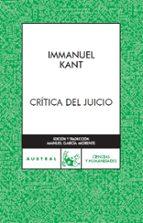critica del juicio-immanuel kant-9788467023800