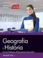 cos de professors d ensenyament secundari. geografia i història. temari vol. i. 9788468168500