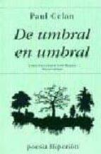 de umbral en umbral: poemas (2ª ed.) paul celan 9788475171500