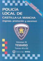 policía local de castilla la mancha volumen iv manuel segura ruiz 9788482193700