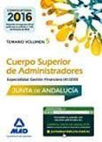 cuerpo superior de administradores [especialidad gestión financiera (a1 1200)] de la junta de andalucía. temario volumen 5-9788414205310