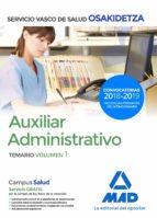 auxiliar administrativo de osakidetza   servicio vasco de salud temario volumen 1 9788414215210