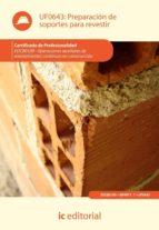 El libro de (I.b.d.) preparación de soportes para revestir autor VV.AA. PDF!