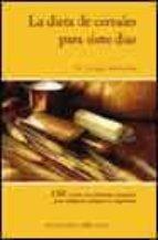 la dieta de cereales para siete dias jurgen weihofen 9788477209010