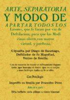 arte separatoria y modo de apartar todos los licores-diego de santiago-9788490013410