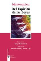 del espiritu de las leyes (6ª ed.)-charles de secondat montesquieu-9788430945320
