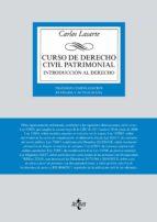 curso de derecho civil patrimonial: introduccion al derecho (24ª ed.) carlos lasarte 9788430974320