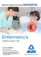 enfermero/a de osakidetza-servicio vasco de salud: temario común y test-9788414215630