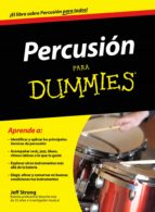 percusion para dummies jeff strong 9788432901430