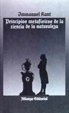 principios metafisicos de la ciencia de la naturaleza immanuel kant 9788420603940