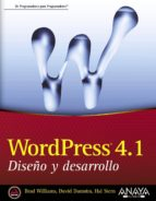 wordpress 4.1. diseño y desarrollo brad williams david damstra 9788441537040