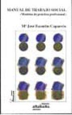 manual de trabajo social-maria jose escartin caparros-9788480181440