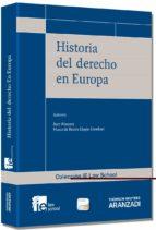 historia del derecho en europa bart wauters 9788490149140
