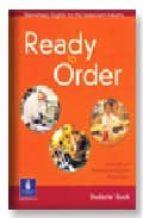 ready to order. students  book (elementary english for the restau rant industry)-anne baude-montserrat iglesias-anna iñesta-9780582429550