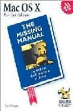 mac os x: the missing manual david pogue 9780596006150