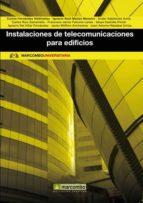 instalaciones de telecomunicaciones para edificios 9788426718150