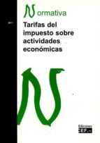 tarifas del impuesto sobre actividades económicas-9788445433850