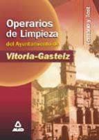 temario y test operarios de limpieza del ayuntamiento de vitoria- gasteiz-9788466502450