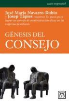genesis del consejo jose maria navarro rubio josep tapies 9788483567050