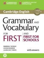 grammar and vocabulary for first and first for schools book with answers and audio-9781107481060