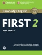 cambridge english: first (fce) 2 student s book with answers & audio 9781316503560