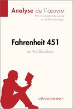 fahrenheit 451 de ray bradbury (analyse de l'oeuvre) (ebook)- lepetitlittéraire.fr-9782806217660