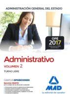 administrativo de la administración general del estado (turno libre). temario volumen 2 9788414210260